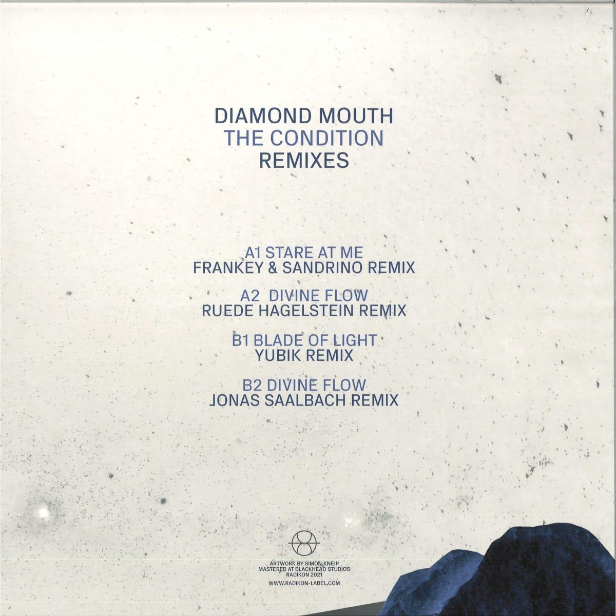 Diamond Mouth Remixes. Frankey & Sandrino, Ruede Hagelstein, Yubik, Jonas Saalbach. Radikon Vinyl Release.